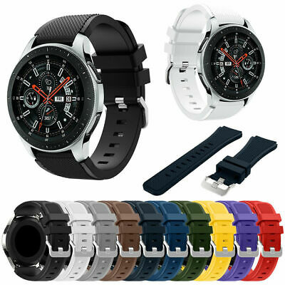 For Samsung Galaxy Watch 46mm Silicone Sport Replacement Band Strap Bracelet