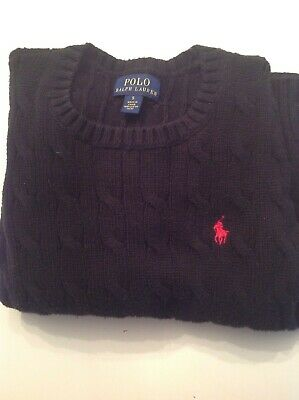 Pre owned Polo Ralph Lauren Boys Sweater crew neck black SIZE 5