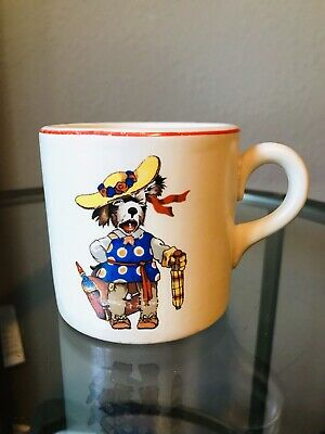 The Edwin M. Knowles China Co.- Childs Cup - Dressed Dog  USA