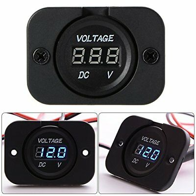 XCSOURCE Universal Digital Display Voltmeter Waterproof Voltage Meter Blue LE...
