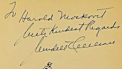 Rare Wendell Willkie Signed Book Ran For President Died 1944
