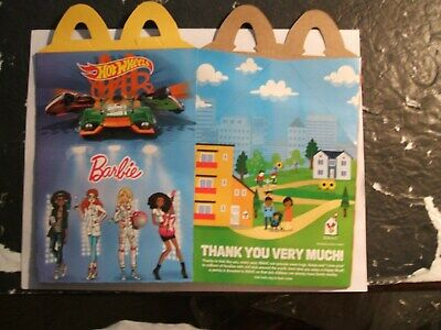 McDONALDS HAPPY MEAL,  HOT WHEELS & BARBIE   2019     ( HAPPY MEAL BOX )