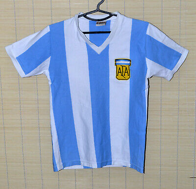 Argentina National Team 1970`S Home Football Shirt Jersey Copa Retro Replica