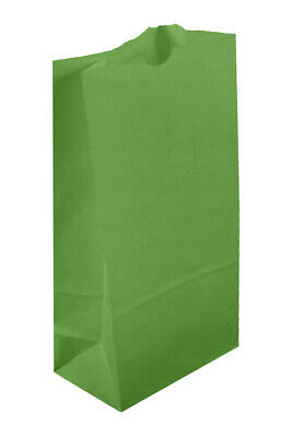500 Large Lime Green Paper Lunch Bags - 10# SOS (6 9/16 x 4 1/16 x 13 3/16)