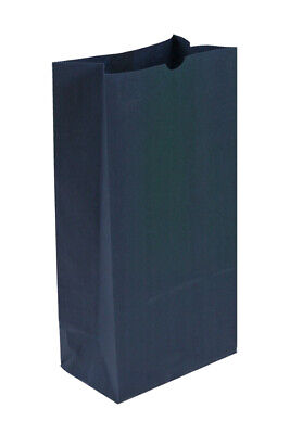 500 Large Navy Blue Paper Lunch Bags - 12# SOS (7 1/8 x 4 3/8 x 13 15/16)