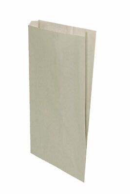 Large Gusseted Misty Gray Paper Bags - 14 x 3 x 21