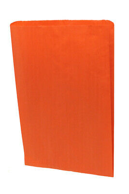 Large Gusseted Orange Paper Bags - 16 x 3.75 x 24