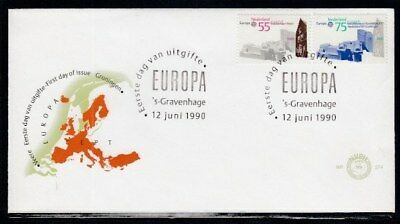 NETHERLANDS Veere & Groningen Post Offices EUROPA 1990 FIRST DAY COVER
