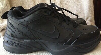 NIKE AIR MONARCH IV Mens Black 001 Comfort Lace Up Running