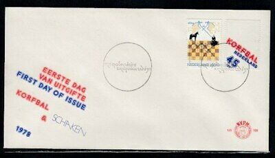 NETHERLANDS Chess Tournament & Korfball FIRST DAY COVER