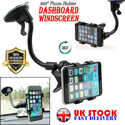 Universal 360° in Car Windscreen Dashboard Holder Mount Any size Mobile Phone UK