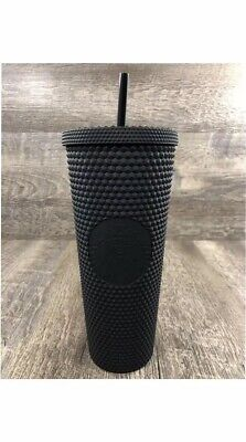 RARE 2019 Starbucks Matte Black Studded Spiked Tumbler Cold Cup 24oz New