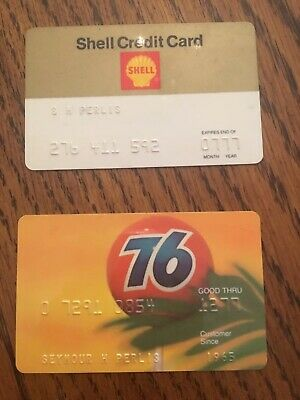 Lot of 2 Vintage Credit Cards 1977 Shell And 76 Ball