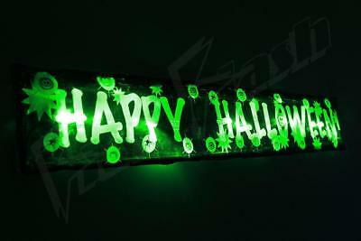 Flashing Halloween decorations sign 3FT prop light up party spider pumpkin Glows