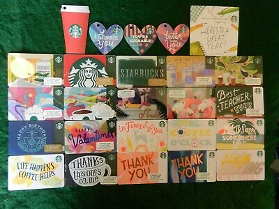 Large Lot Of Twenty-Five (25) Different Collectible Only *Starbucks* Gift Cards
