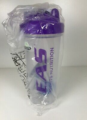Clear and Purple EAS Sports Nutrition  28 oz Blender Bottle New