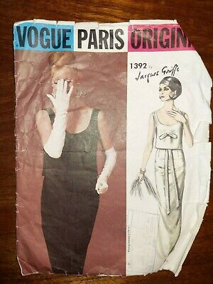 Vogue Paris Original Jacques Griffe 1392 1960's Vintage Evening Dress 14/34