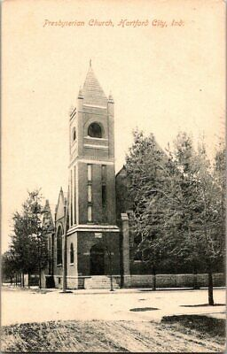 1910. Presbyterian Church. Hartford City, Ind. Postcard Sl15