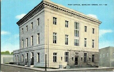 1940'S. Post Office. Bowling Green, Ky Postcard Sl14