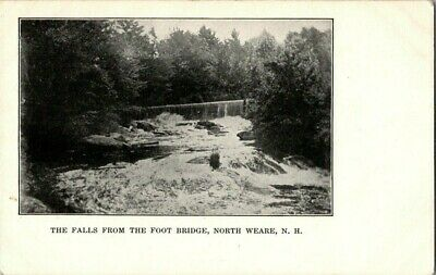 Early 1900'S. Falls From Foot Bridge. North Weare, N.h. Postcard Sl113