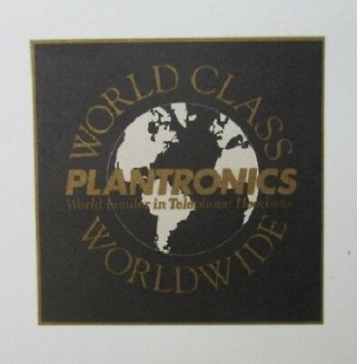 PLANTRONICS World Leader in Telephone Headsets LETTERHEAD 23 sheets 90's vintage
