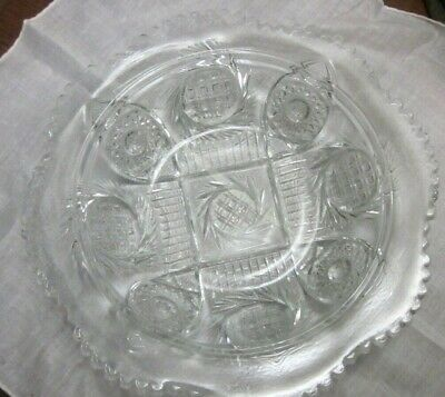 Lovely Antique Vintage Clear Cut Pressed Glass Bowl