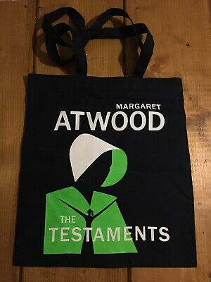 Margaret Atwood The Testaments Promotional Tote Bag, Badge & Bookmark. New.