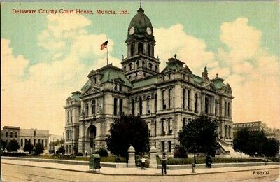 Early 1900'S. Court House. Muncie, Indiana. Postcard Sl7