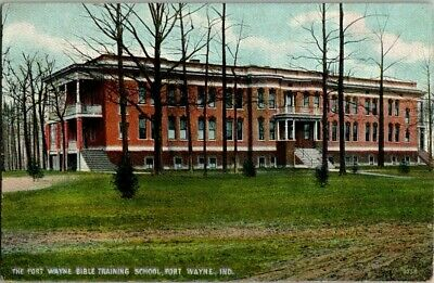 Early 1900'S. Bible Training School. Fort Wayne, Ind. Postcard Sl10