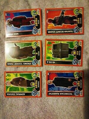 Star Wars Topps Force Attax Extra Trading Card Game 75 cards mint condition