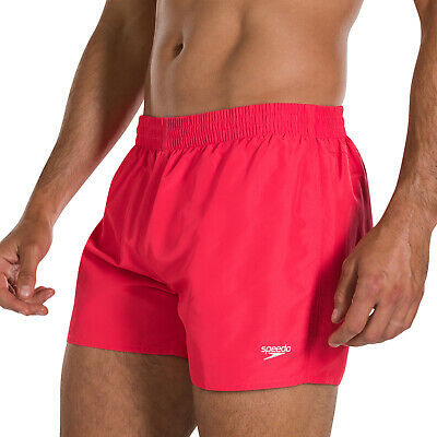 """Speedo Mens Water Shorts. Fitted Leisure 13"""" Red Quick Dry Trunk/Swimmers 9W 62"""