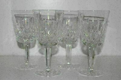 """Set Of 4 Waterford Lismore Crystal 6-7/8"""" Water Goblets"""