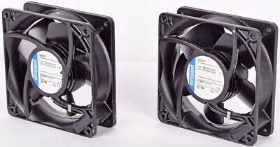 "Lot 2 Ebmpapst 4600 X 115V Metal High-Temperature 4.75""x4.75""x1.5"" AC Axial Fan"