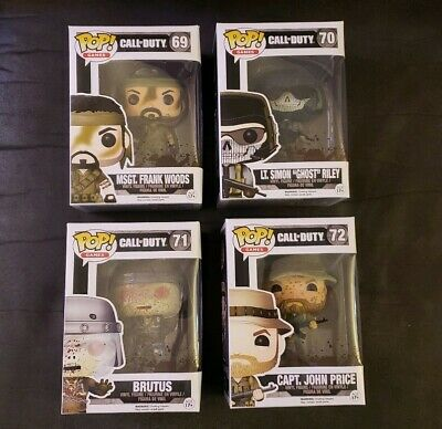 Funko Pop Gamestop Call of Duty #69 70 71 72 Woods Price Riley Brutus Set of 4!
