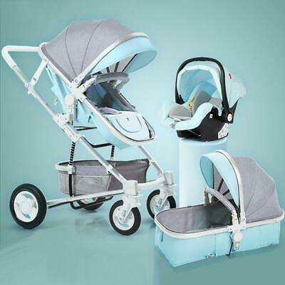 Luxury Infant Baby Stroller 2 in 1 high Landscape Baby Stroller with Car Seat 3