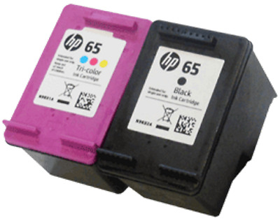 HP #65 Black and Color Ink Cartridge Combo GENUINE