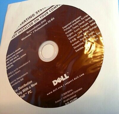 Windows 7 Professional 32-Bit Reinstallation DVD Win7 Recovery Media for Dell PC