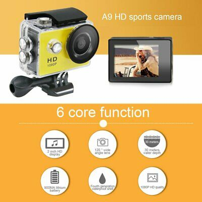 Mini A9 DV Waterproof 1080P Full HD Sport Action Camera Camcorder