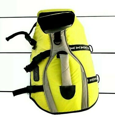 Outward Hound Size Small Dog Life Jacket Lime Handle Buckle Hook and Loop