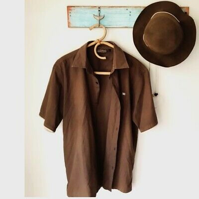 Vintage Retro Billabong Shirt Mens Earth Tones Large