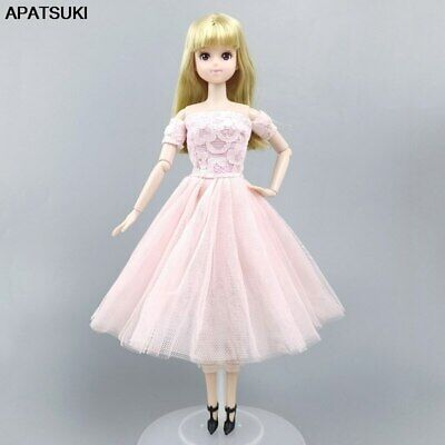 "Pink Fashion Doll Clothes For 11.5"" 1/6 Doll Dress Gown Short Dresses Outfits"