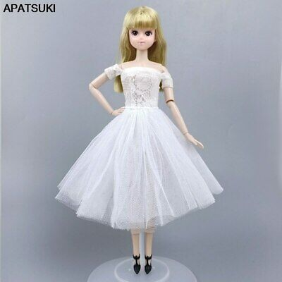 "White Fashion Doll Clothes For 11.5"" Doll Dress Gown Short Dresses Outfits Toy"