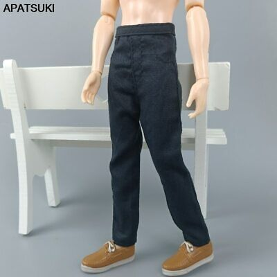 Black Fashion Doll Clothes Hip Hop Handmade Pants Trousers for Ken Boy Doll Toy