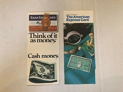 Vintage 1970s Bank Americard Visa American Express Credit Card Applications