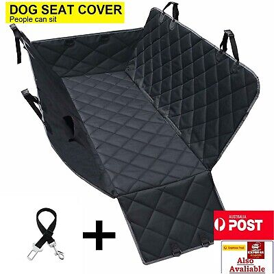 Dog Hammock Rear Car Seat Cover with Side Flaps Water-proof Heavy Duty Non-Slip