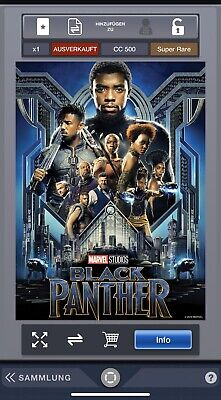 Topps Marvel Collect App The First 10 Years Black Panther Poster