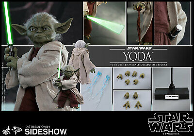 Hot Toys Yoda Star Wars 1/6 Scale Action Figure Ep II Attack of the Clones