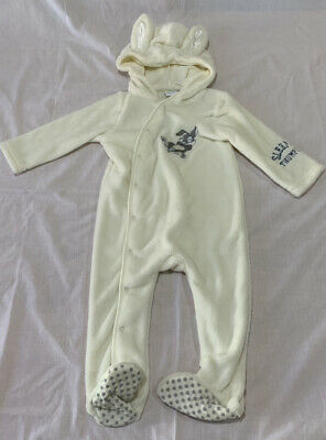 Baby size 1 White Disney THUMPER soft fleece Coverall NEW 12 -18 months NEW