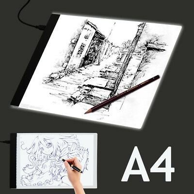 A3 A4 Ultra Slim LED Drawing Board Pad Tracing Light Box Copy Craft Art Paint UK