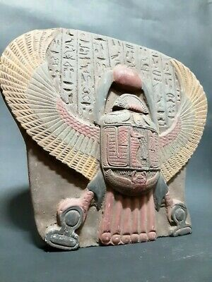 RARE ANCIENT EGYPTIAN ANTIQUES SCARAB Beetle Stela Relif Stone 1958 BC